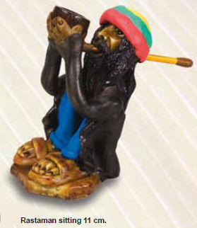 Brazil Rasta Man Sitting Pipe