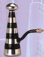 Cone Black Striped Metal Water Pipe