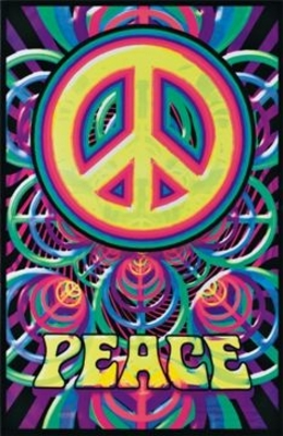 Peace Black Light Poster