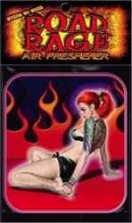 Flames Girl Air Freshner