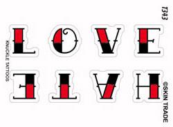 Love Hate Tattoo Design on Love Hate Tattoo Rv T343